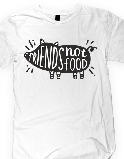 Veggie T-shirt friends not food