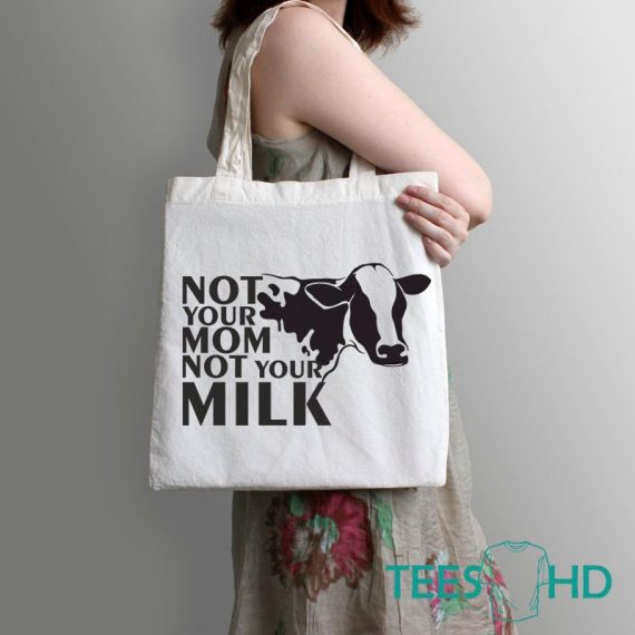 Animal-Rights-bag-Not-Your-Mom-Not-Your-Milk-Bag-Vegan-Beach-Tote-Bag-Vegan-Gift-Vegan-Beach-Cow-tote-Bag-Vegan-Market-Bag-Cow-bag-2