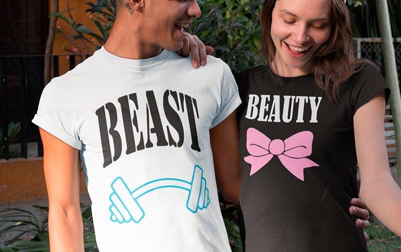 Beast-and-Beauty-couple-shirtset-Love-Couple-Shirts-LOVE-Matching-Couples-couple-shirts-Set-Couples-shirts-Beast-and-Beauty