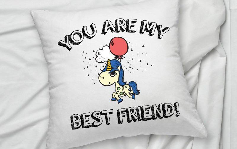 Best-Friend-pillow-unicorn-pillow-Friend-gift-pillow-cushion-cover-Friend-Pillowcase-Friend-Cushion-Cover-Home-Decor-Best-Friend-gift