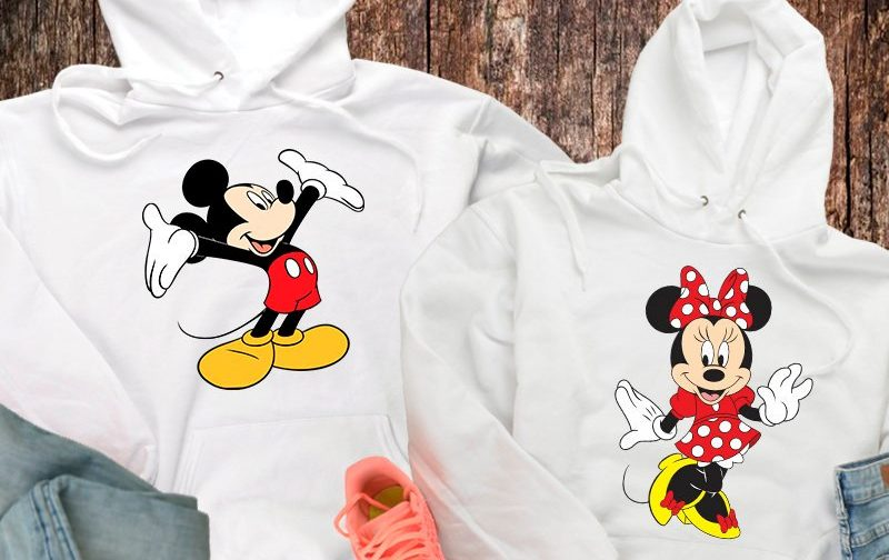 Couple-Hoodie-Couple-Pullover-Valentine-Day-Gift-Her-Valentines-Top-His-Valentines-Top-Honeymoon-Top-Mickey-Hoodie-Minnie-Sweater