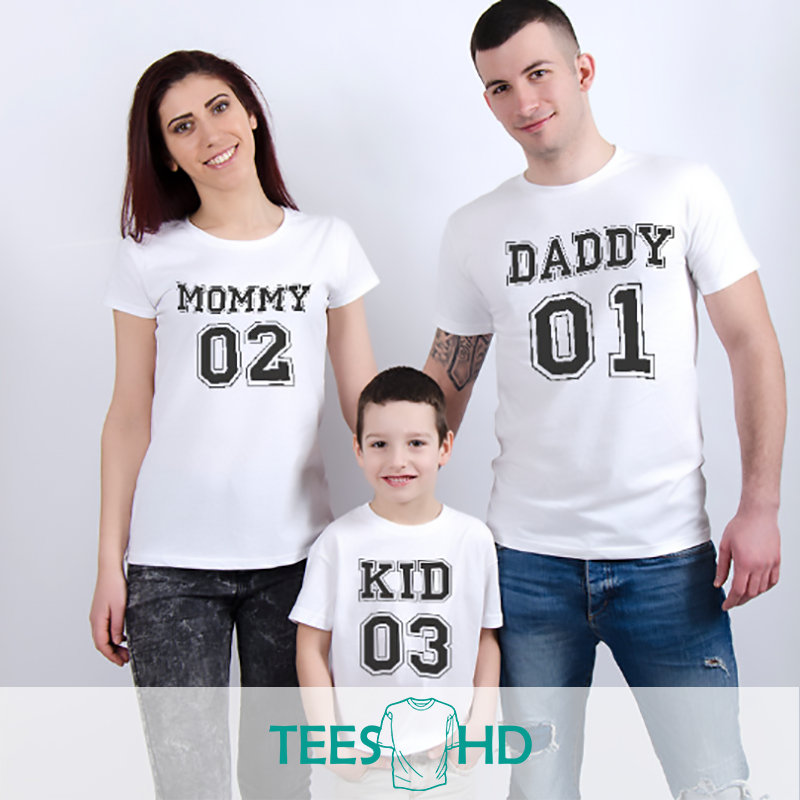 Family shirt, Mommy Daddy Baby 01, Father Mother Daughter Son, Family  T-shirts, Mommy Daddy shirts, Mommy Daddy Baby shirts, T-shirts - TeesHD -