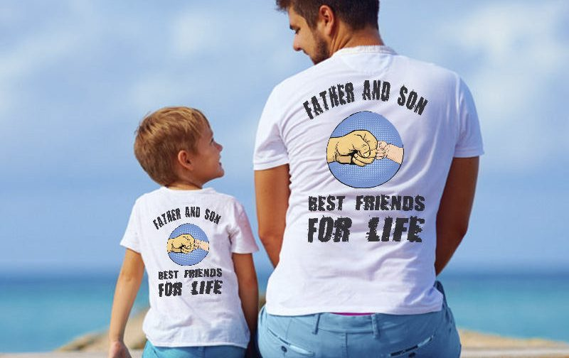 Father-and-son-friends-for-life-shirts-T-shirts-father-and-son-clothes-family-shirts-100-cotton-Tee