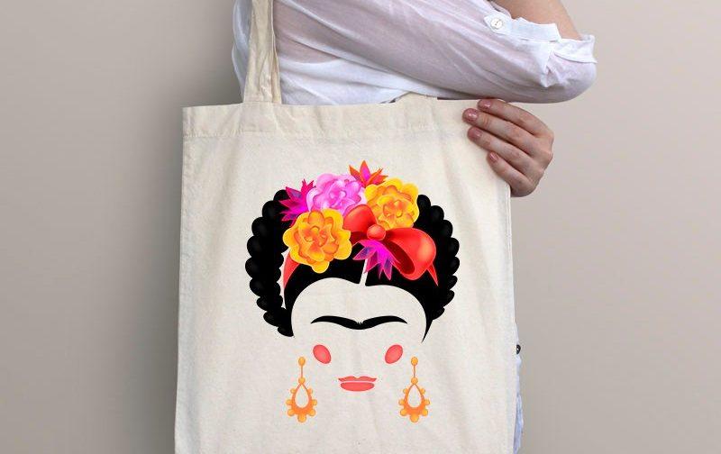 Frida-Tote-Bag-Frida-Kahlo-Boho-Beach-Bag-Frida-Artist-Mexican-Folk-Art-Feminist-Gift-Beach-Market-Bag-for-Women-Market-Bag-frida