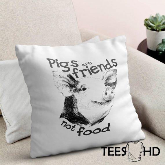 Friends-Not-Food-Veganism-Farm-Animal-Rights-Pig-pillow-cushion-cover-Vegan-Pillowcase-Vegan-Cushion-Cover-Vegan-gift-Animal-Lover-1