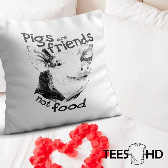 Friends-Not-Food-Veganism-Farm-Animal-Rights-Pig-pillow-cushion-cover-Vegan-Pillowcase-Vegan-Cushion-Cover-Vegan-gift-Animal-Lover-2