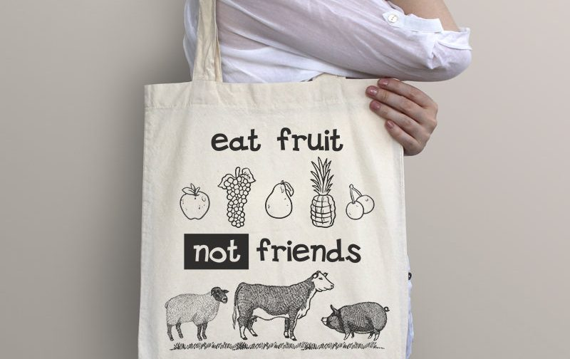 GO-Vegan-Eat-Fruit-Not-Friends-bag-Animal-Rights-bag-Vegan-Beach-Tote-Bag-Vegan-Gift-Vegan-Beach-Vegan-Market-Bag-Save-Animals