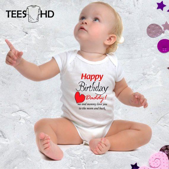 Happy-Birthday-Daddy-baby-bodysuit-Birthday-Present-Baby-Grow-baby-body-Happy-Birthday-baby-vest-baby-shirt-bodysuit-Cute-Baby-Grow-2