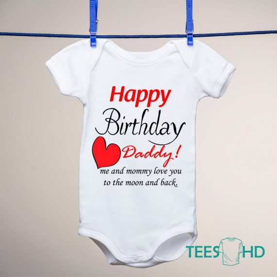 Happy-Birthday-Daddy-baby-bodysuit-Birthday-Present-Baby-Grow-baby-body-Happy-Birthday-baby-vest-baby-shirt-bodysuit-Cute-Baby-Grow-3