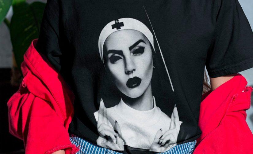 Hot-nun-t-shirt-Satanic-Nun-t-shirt-women-tshirt-trendy-tshirts-evil-nun-shirt