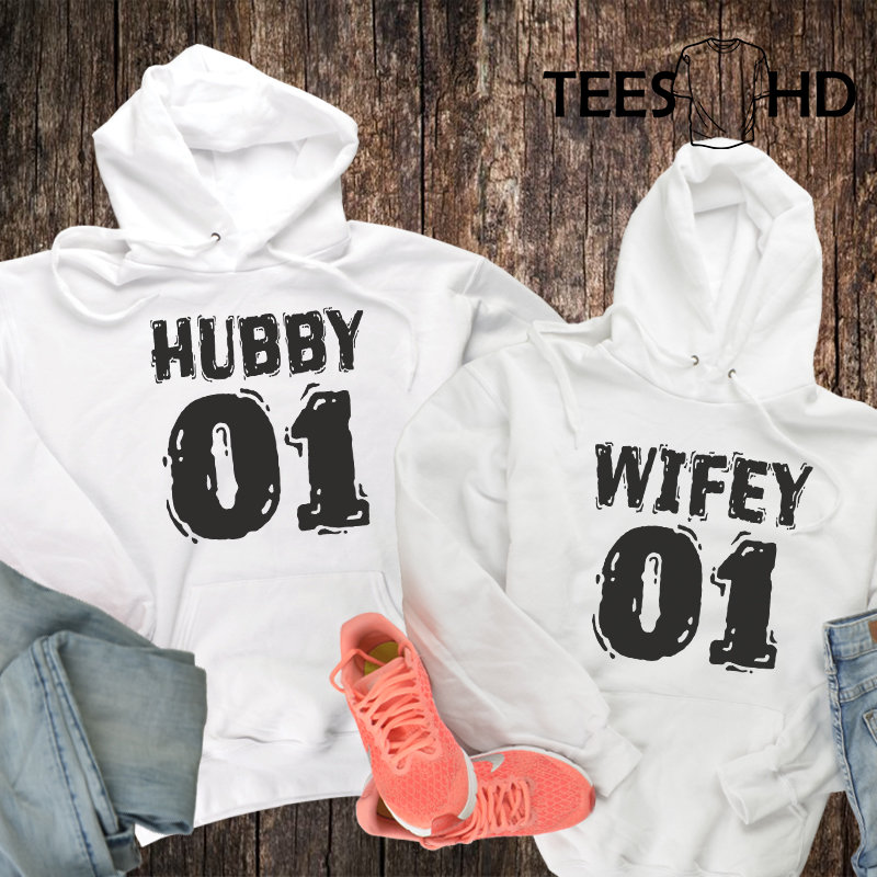 Hubby And Wifey Couples Hoodies