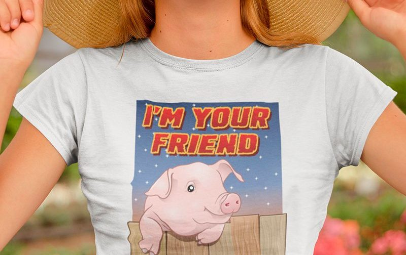 Im-your-Friend-Not-Food-Pig-Vegan-Shirt-Animal-Rights-Shirt-Veganism-Farm-Vegan-Shirt