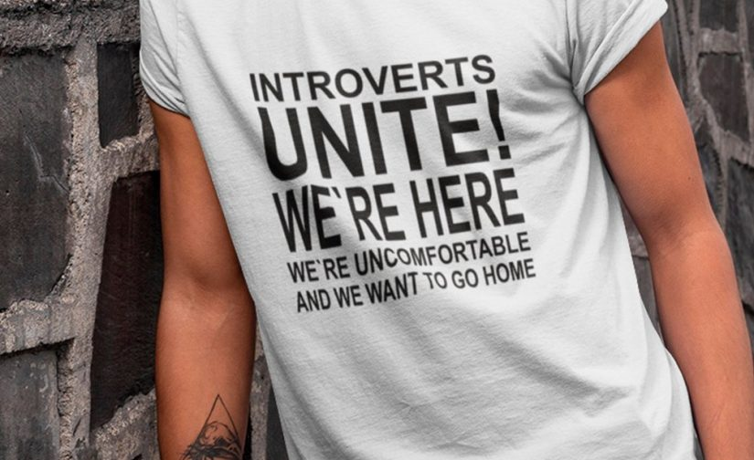 Introverts-Unite-shirt-Were-Here-Were-Uncomfortable-And-We-Want-To-Go-Home-T-shirt-sarcastic-shirt-Ladies-Unisex-Crewneck-Shirt