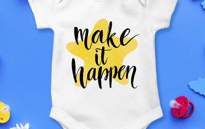 Make-it-happen-baby-body-baby-clothing-baby-body-Make-it-happen-Make-it-happen-bodysuit-baby-vest-baby-shirt-bodysuit-Cute-Baby-Grow