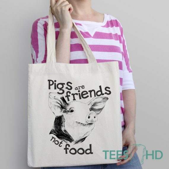Pig-tote-Bag-Friends-Not-Food-Bag-Animal-Rights-bag-Vegan-Beach-Tote-Bag-Vegan-Gift-Vegan-Beach-Vegan-Market-Bag-Save-Animals-1