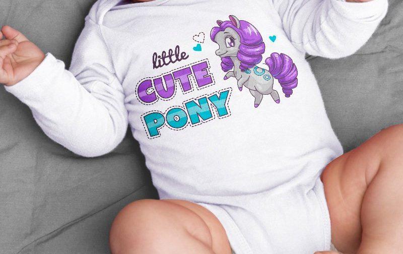 Pony-bodysuit-baby-clothing-Cute-pony-baby-body-gift-for-baby-bodysuit-New-born-pony-baby-vest-gift