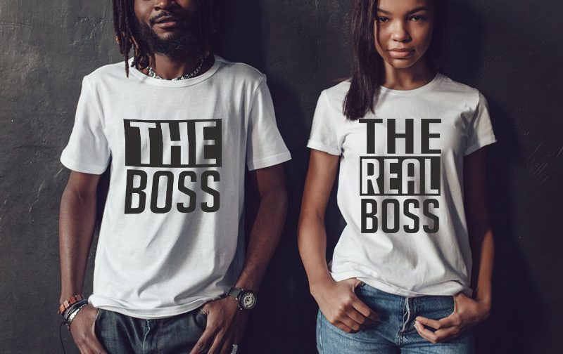 Wedding-Couple-Tshirts-The-Boss-The-Real-Boss-Tees-The-Boss-The-Real-Boss-Set-The-Boss-The-Real-Boss-Tshirts-Couples-shirts-Couple-gift
