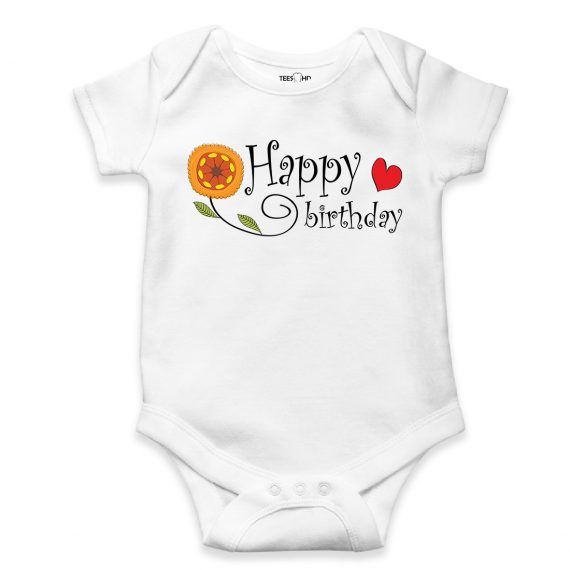 Happy Birthday baby bodysuit