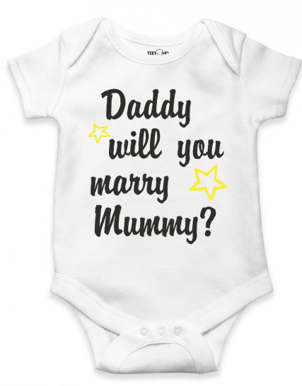 Daddy will you marry mummy bodysuit