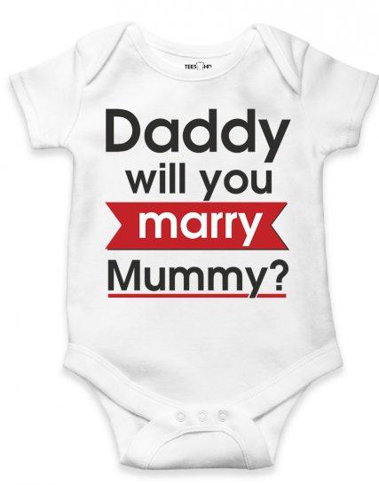Daddy will you marry mummy - bodysuit