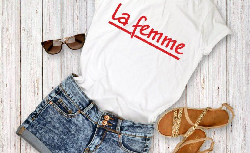 la-femme-Tshirt-french-slogan-shirt-womens-or-unisex-french-slogan-shirt-la-femme-stylish-fashion-tee