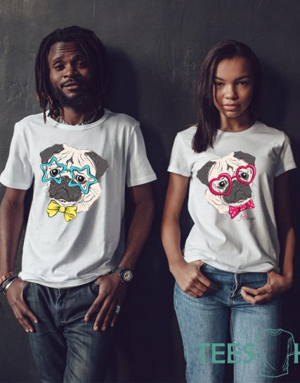 Couples shirts pug dog shirt