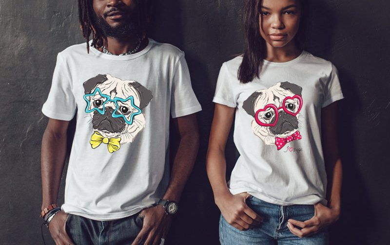 pug-dog-shirt-dog-shirt-Couples-shirts-Wedding-Couple-Tshirts-Couple-gift-funny-couple-shirts-funny-couples-gift-pug-dog-family-look