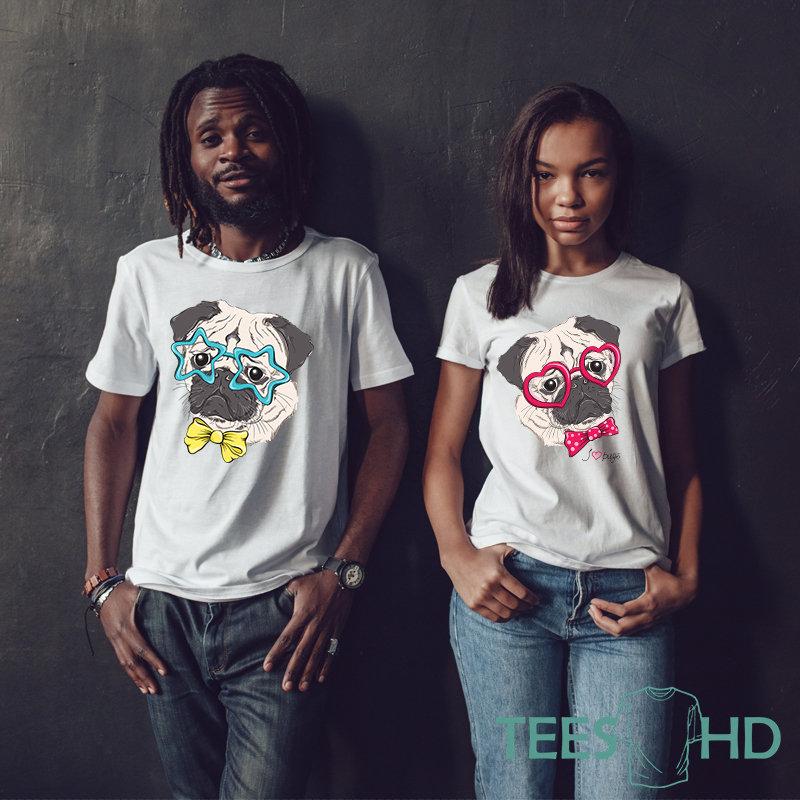 4d7babce1 Couples shirts pug dog shirt. 46. Wishlist. Add to Wishlist loading