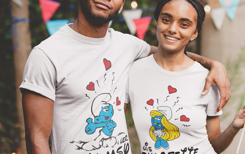 Smurf Couple Tshirt