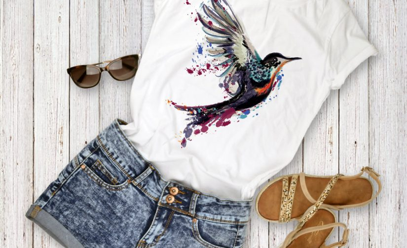 watercolor-bird-shirt-Women-tee-bird-bird-shirt-colorful-bird-tee-Unisex-Clothing-freedom-tee-Bird-shirt-gift-Bird-gift-for-her