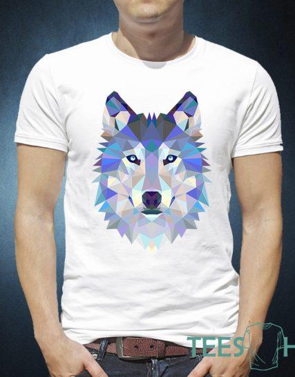 Blue purple wolf