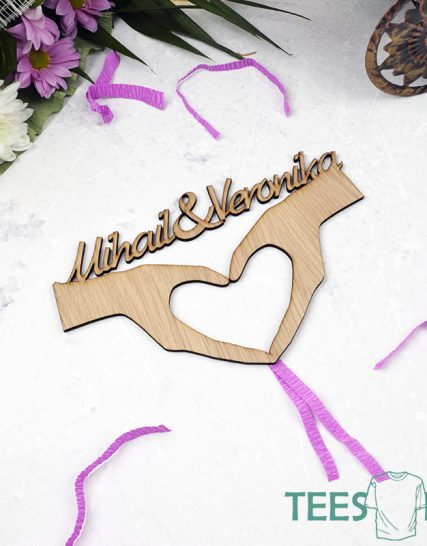 Love sign with names