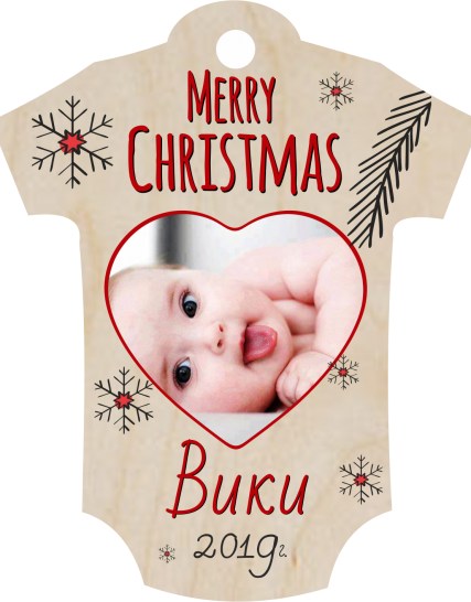 Christmas Baby bodysuit Tree ornaments