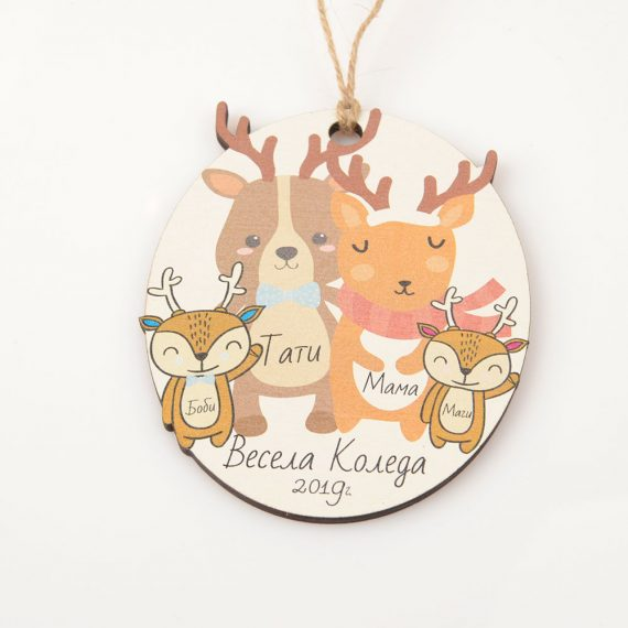Christmas Family members ellipse Tree ornaments
