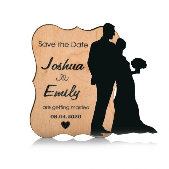 Newlyweds shape Wedding magnet, Decoration