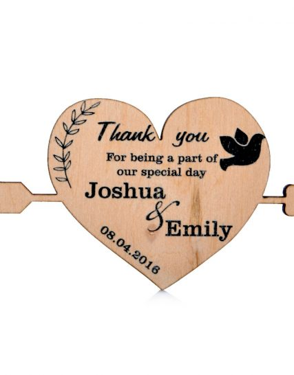 Heart with arrow Wedding magnet, Decoration
