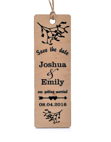 Save Wedding Date wooden magnet, Decoration