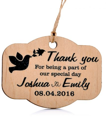 Cute wooden Wedding magnet, Decoration