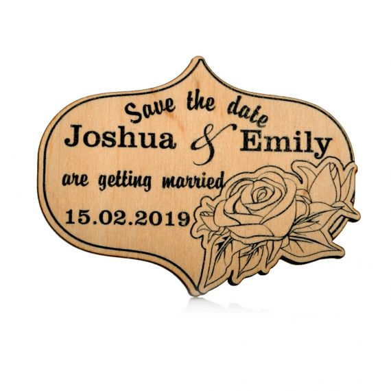 Roses love design Wedding magnet, Decoration