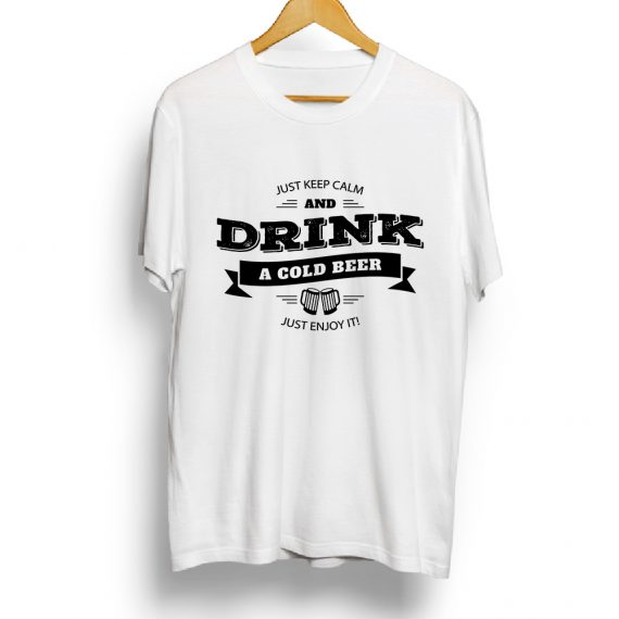 Keep calm and drink a cold Beer t-shirt