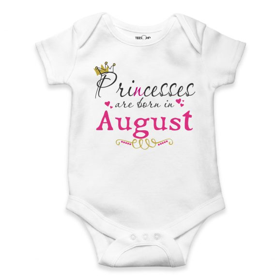 august personalized baby bodysuit short sleeve vest newborn gift