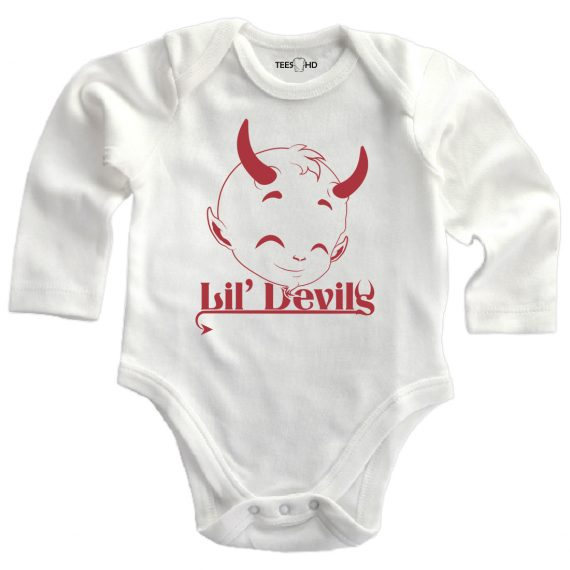 devil personalized baby bodysuit long sleeve vest newborn gift