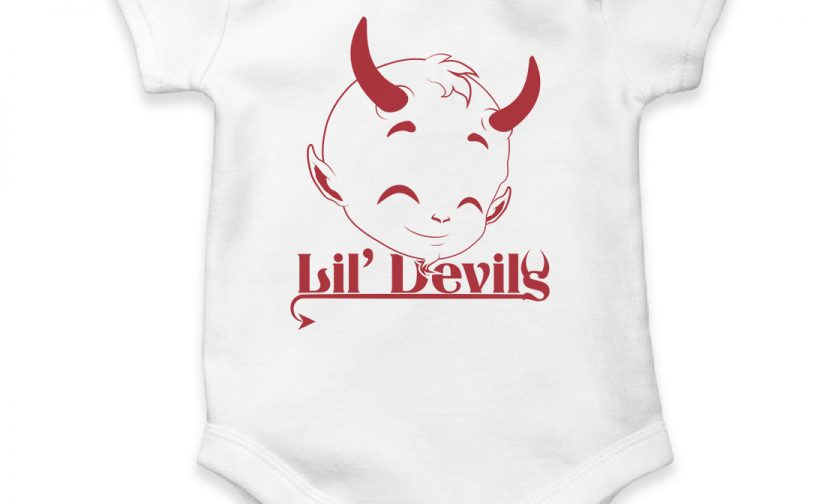 devil personalized baby bodysuit short sleeve vest newborn gift