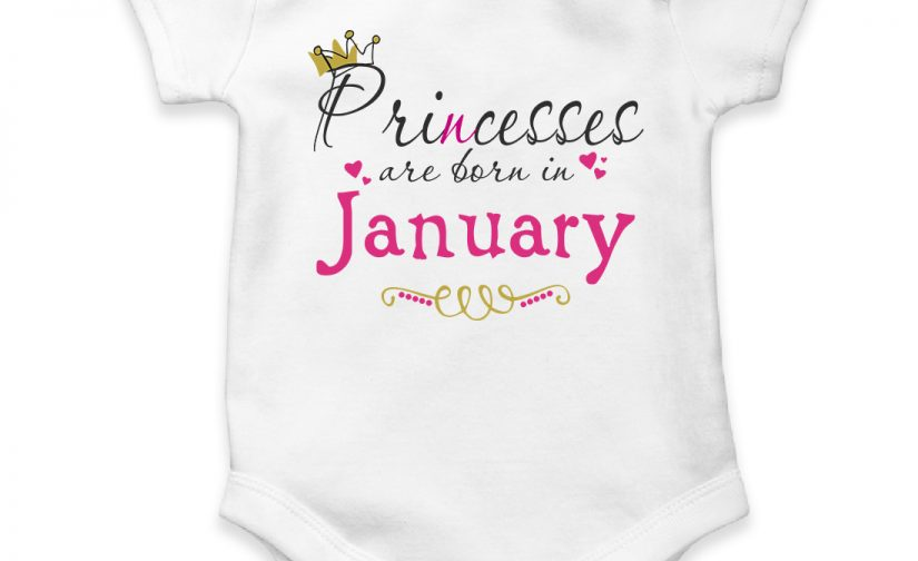 january personalized baby bodysuit short sleeve vest newborn gift