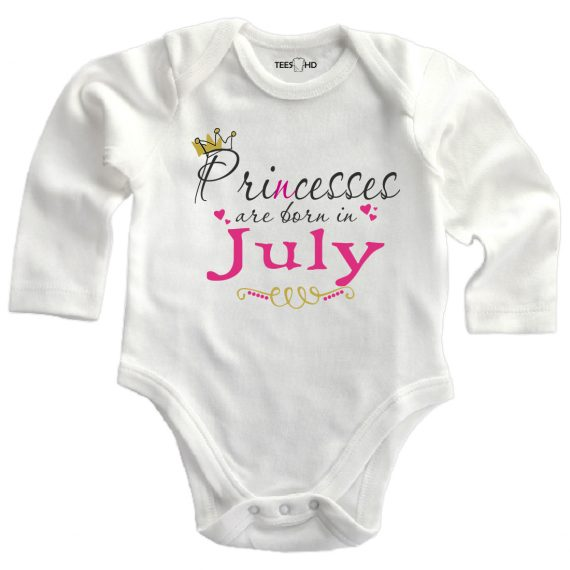 july personalized baby bodysuit long sleeve vest newborn gift