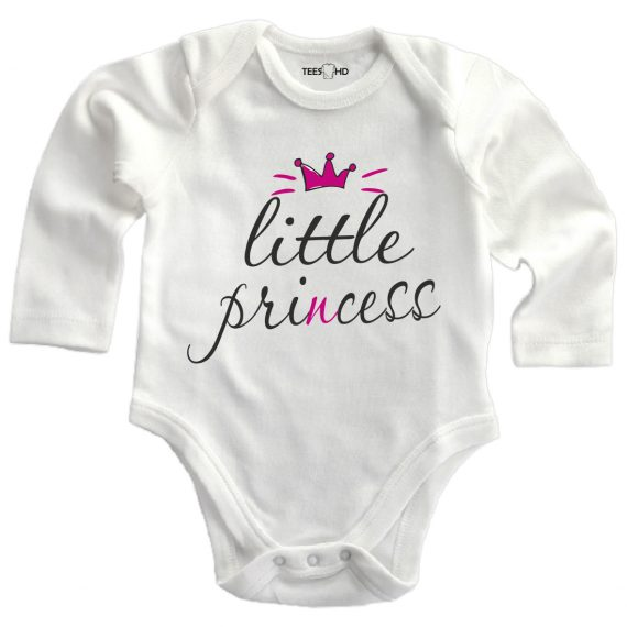 little princess personalized baby bodysuit long sleeve vest newborn gift