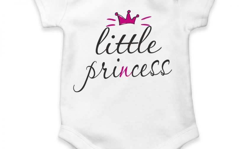 little princess personalized baby bodysuit short sleeve vest newborn gift