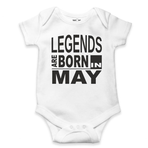 may personalized baby bodysuit short sleeve vest newborn gift