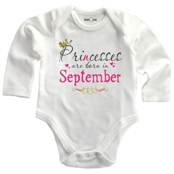september personalized baby bodysuit long sleeve vest newborn gift