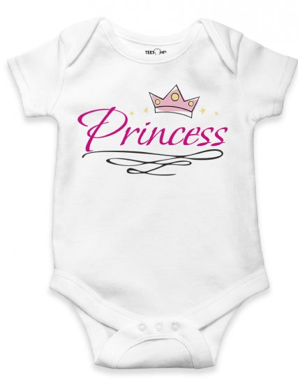 Bodysuit Pink Princess with Crown